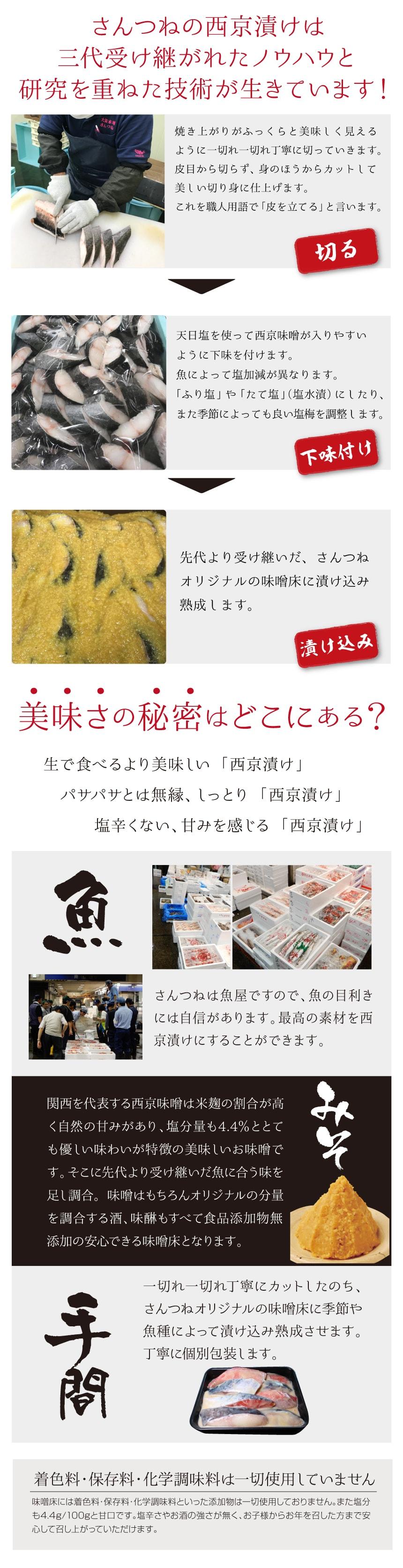 さんつねの西京漬け(西京焼き)は三代受け継がれたノウハウと研究を重ねた技術が生きています!