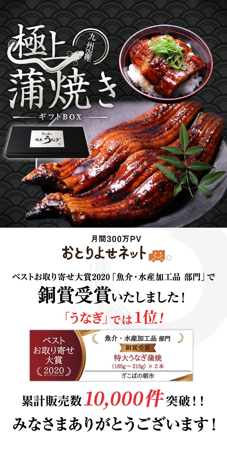 九州産うなぎ(鰻・ウナギ)の蒲焼きお取り寄せギフト(ギフトボックス)