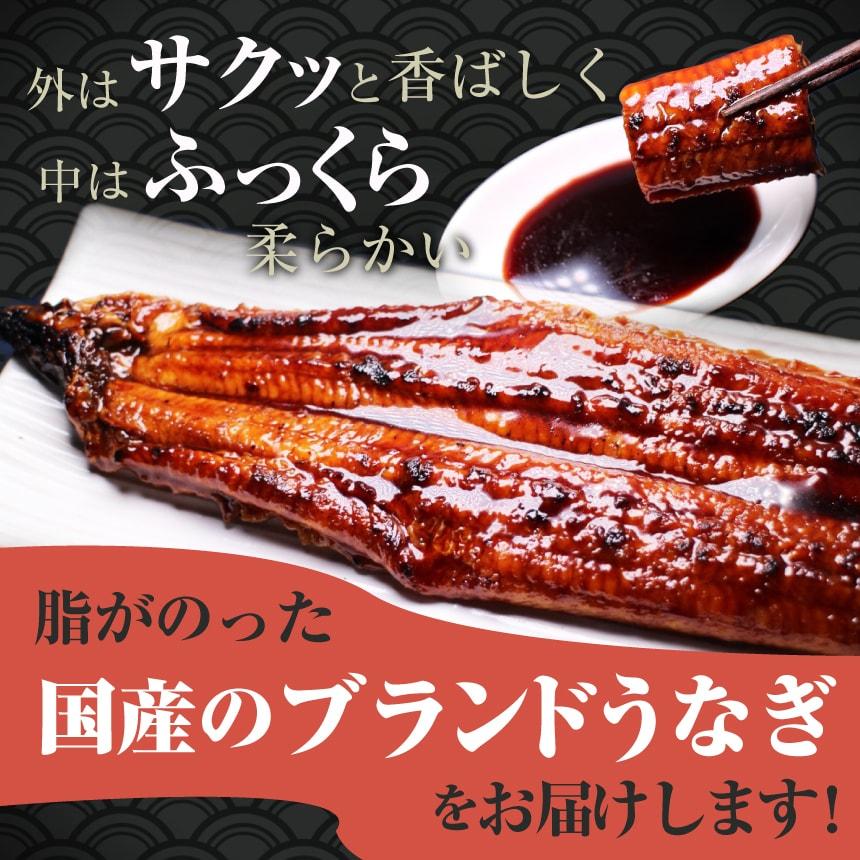 外はサクッと香ばしく中はふっくら柔らかい脂がのった国産のブランドうなぎ(鰻・ウナギ)をお届けします!