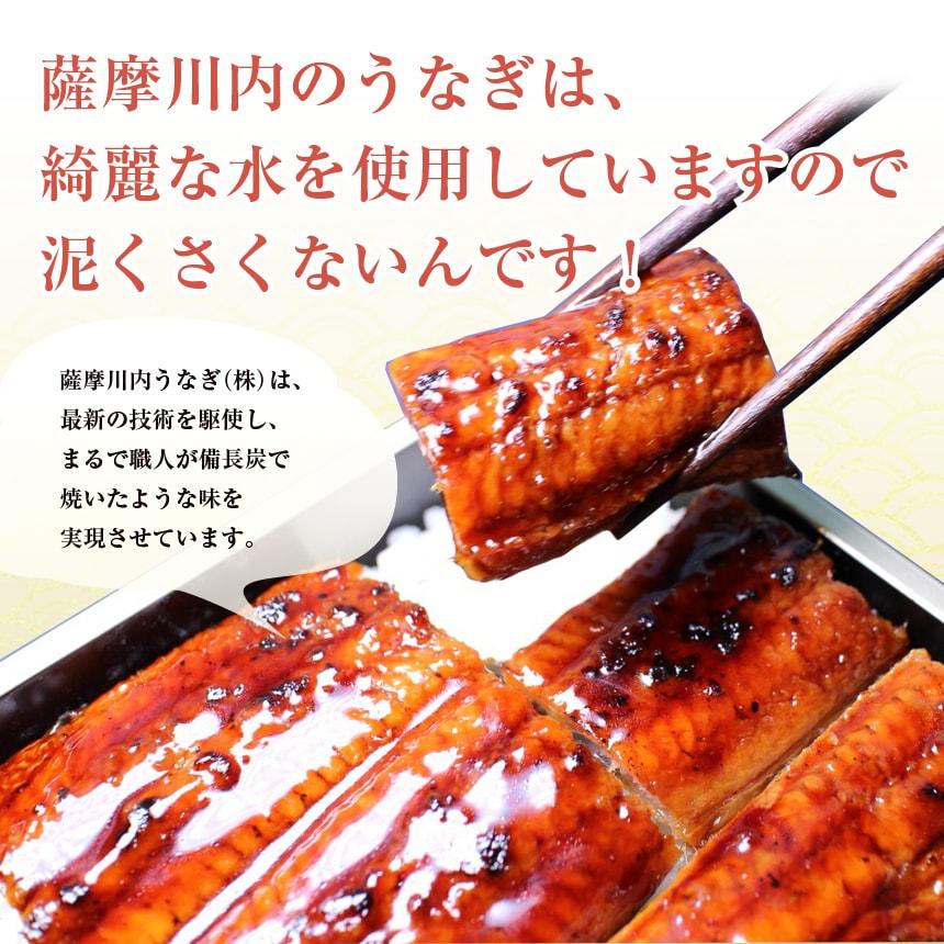 薩摩川内のうなぎ(鰻・ウナギ)は、綺麗な水を使用していますので泥臭くないんです。