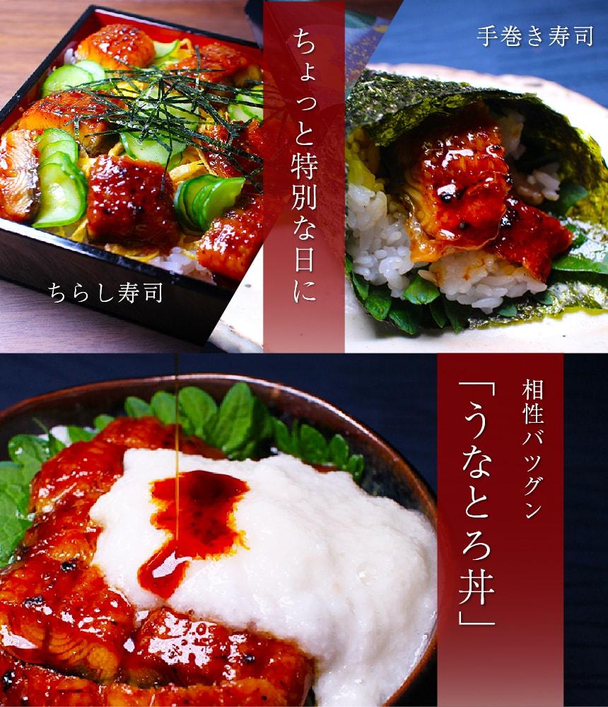 ちょっと特別な日に ちらし寿司 手巻き寿司 相性バツグン「うなとろ丼」